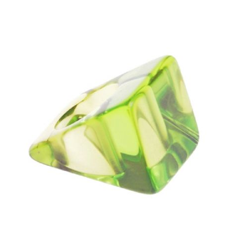 Jackie Brazil Large Square Ring in Transparent Green